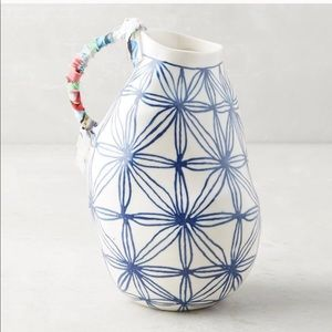 Keramisk Collection Blue Star-Patterned Vase